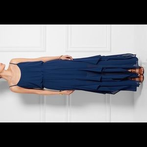 Michael Kors Tiered Ruffled Georgette Maxi - S